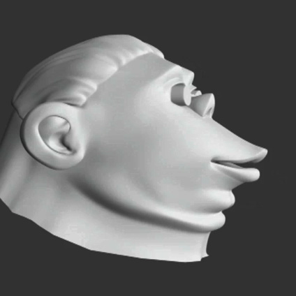 Doc head 3D side