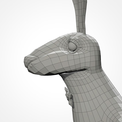Partyhase head/side wireframe