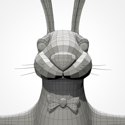 Partyhase head/front wireframe