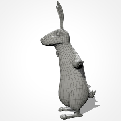 Partyhase body/wireframe/side