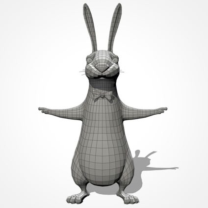Partyhase body/front wireframe